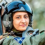 Ayesha Farooq, 26, Pakistan's only female war-ready fighter pilot, poses for photograph as she sits in the cockpit of a Chinese-made F-7PG fighter jet at Mushaf base in Sargodha